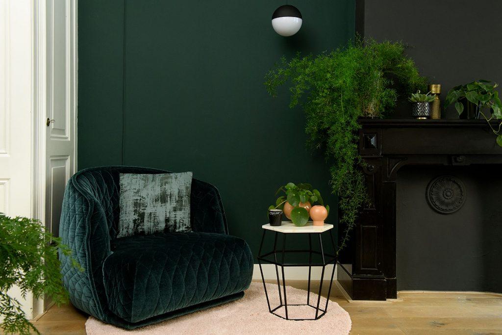 welke kleur past bij groen interieur