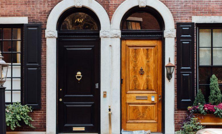 Verschillende voordeuren